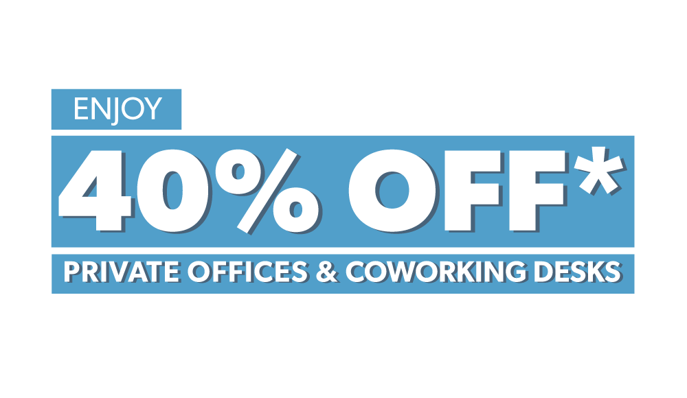 40% off serviced offices