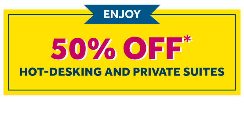 50% off coworking & offices