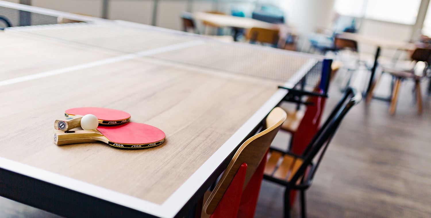 tenis table on premium coworking space