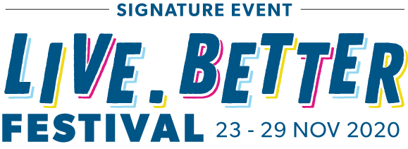 live.better festival artwork font